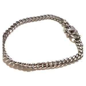 Mens chain link bracelet with security clasp